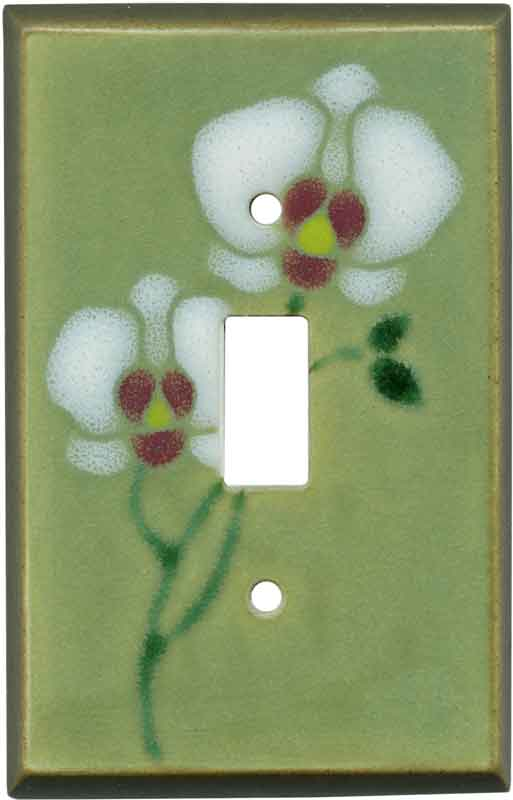 Orchid Ceramic1 Toggle Light Switch Cover