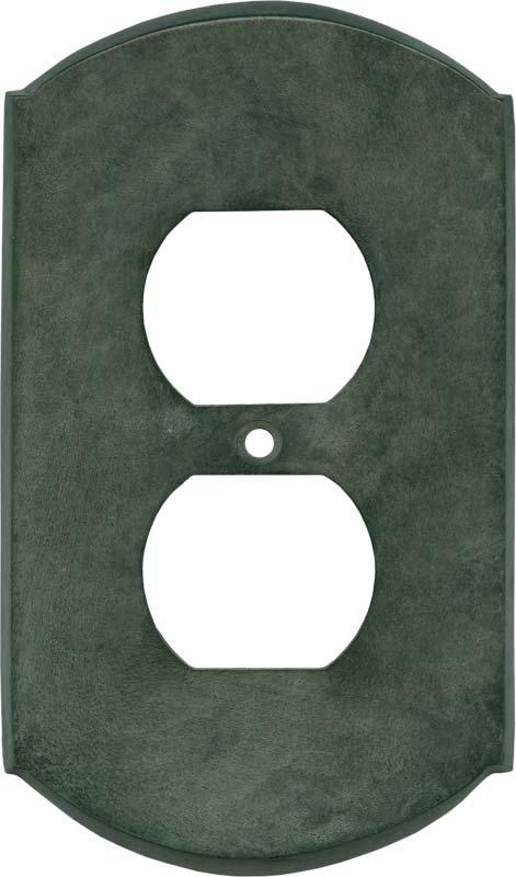 Ovalle Verdigris 1 Gang Duplex Outlet Cover Wall Plate