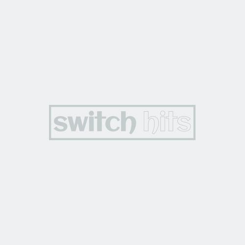 Art Deco Step Satin Nickel 3-Toggle / 1-Duplex - Combination Wall Plates