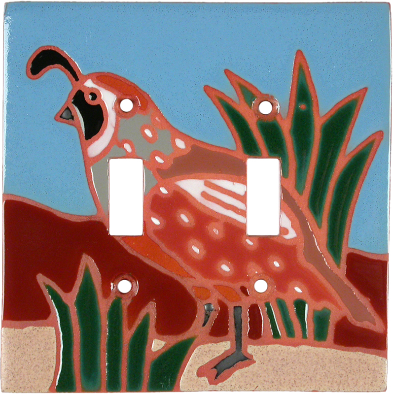 Ptarmigan Double 2 Toggle Switch Plate Covers