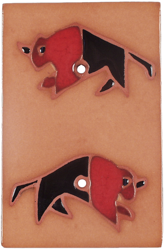 Red Black Buffalo Blank Wall Plate Cover