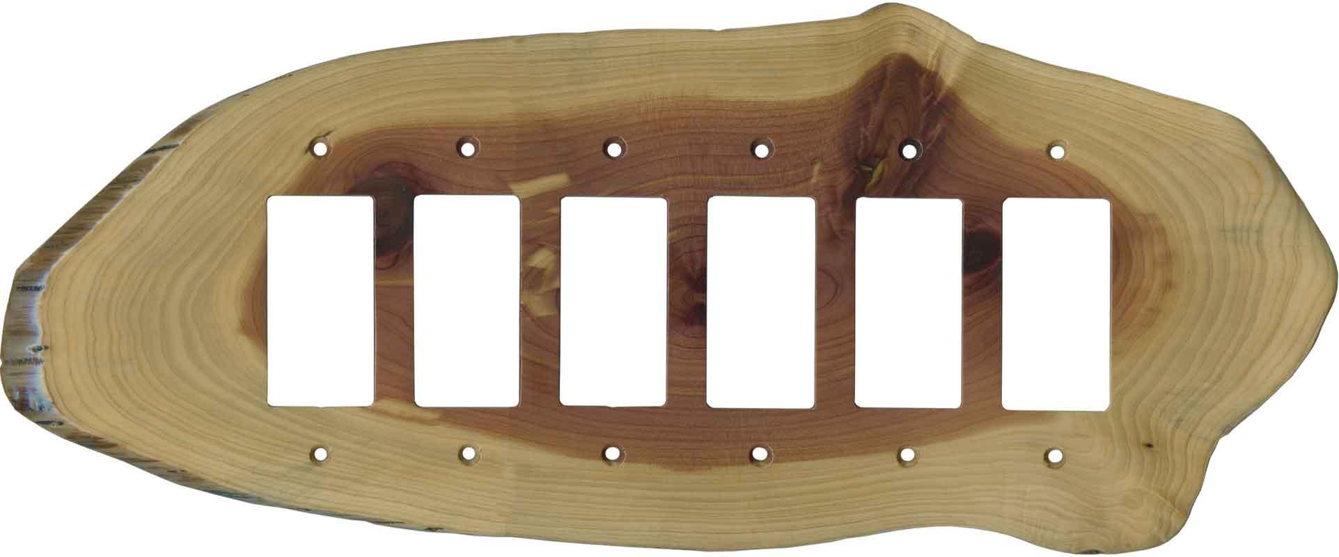 Red Cedar Slice- 6 GFI Rocker Decora