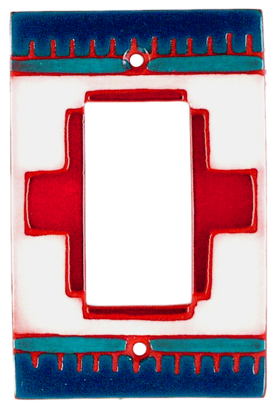 Red Compasse Single 1 Gang GFCI Rocker Decora Switch Plate Cover