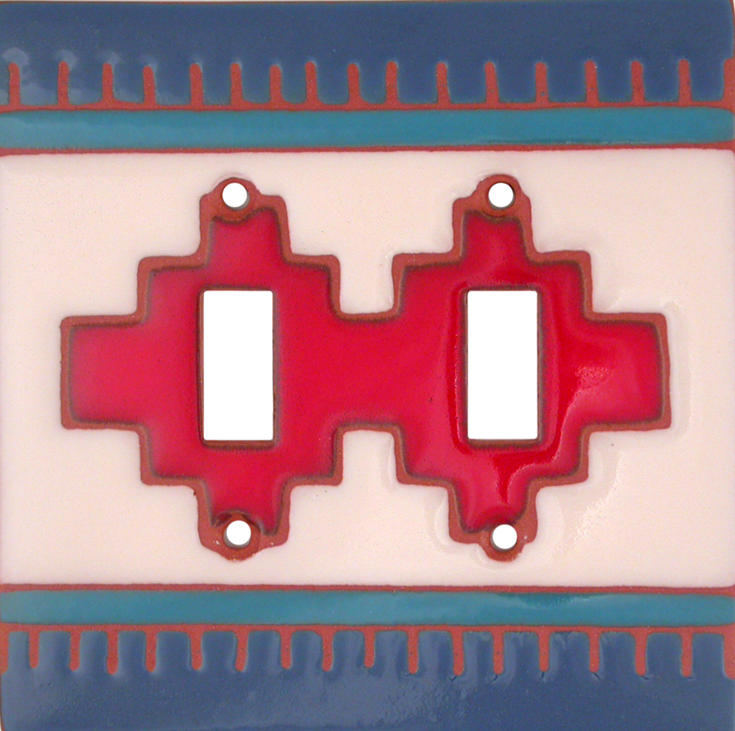 Red Compasse Double 2 Toggle Switch Plate Covers