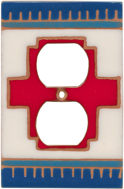 Red Compasse 1 Gang Duplex Outlet Cover Wall Plate