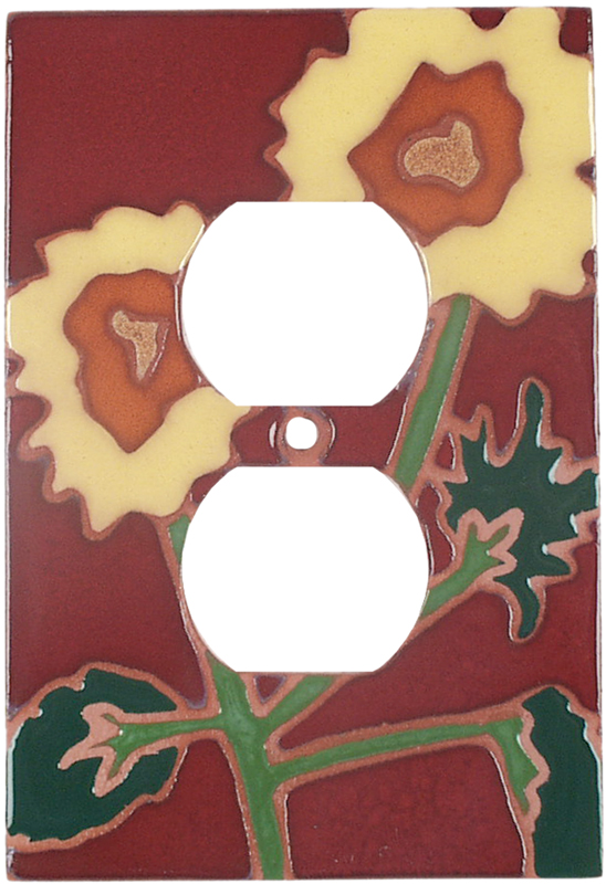 Red Sunflower - Outlet Covers