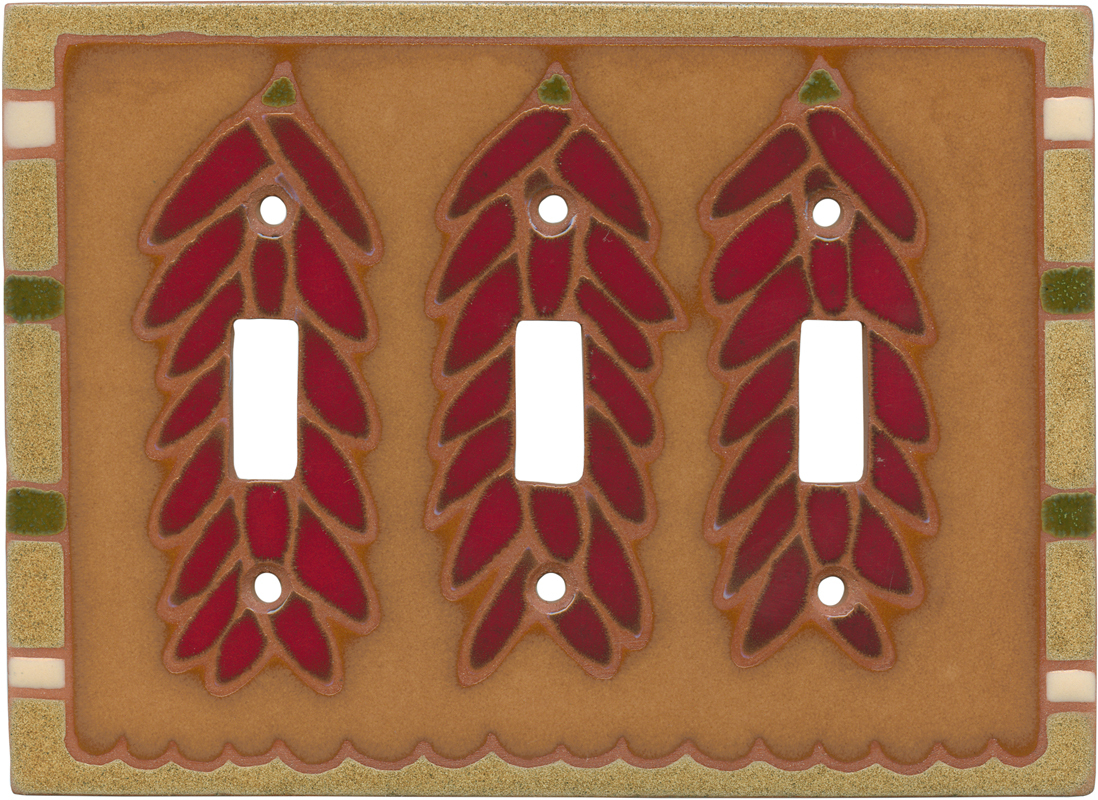Ristra Earth Triple 3 Toggle Light Switch Covers