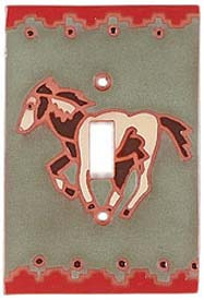 Running Horse - 1 Toggle Light Switch Plates