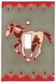 Running Horse Single 1 Toggle Light Switch Plates