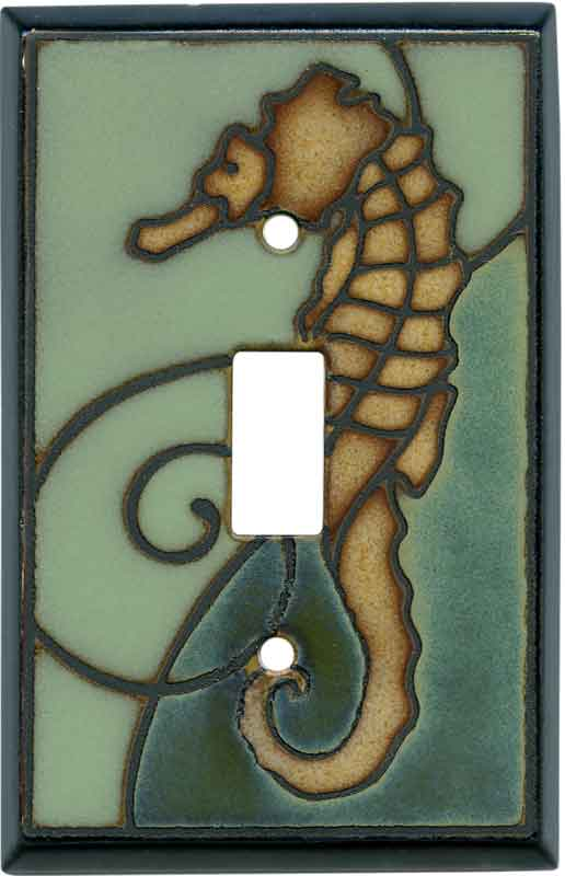 Seahorse Ceramic1 Toggle Light Switch Cover