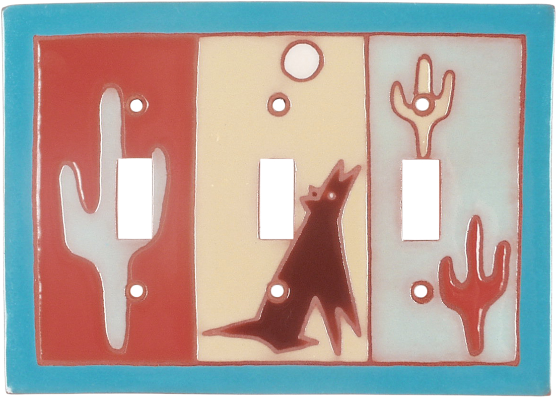 So Southwest - 3 Toggle Light Switch Covers
