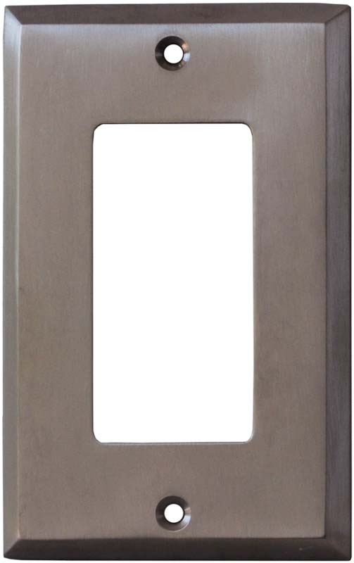 Stainless Steel Finish - GFCI Rocker Switch Plate Covers