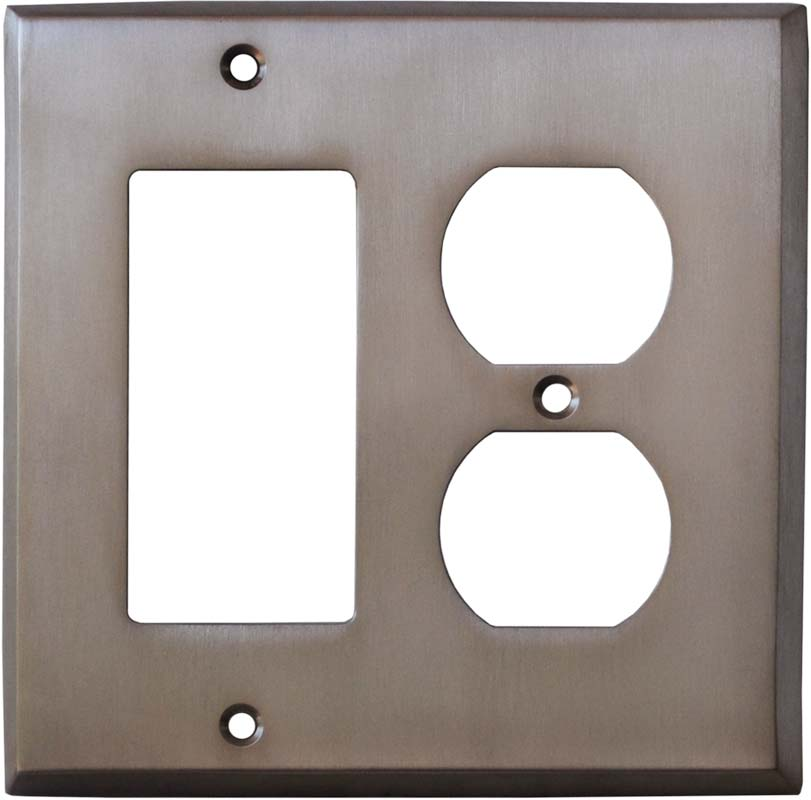 Stainless Steel Finish - GFCI Rocker/Duplex Outlet Wall Plates