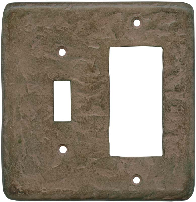 Texture Brown Clay - Combination 1 Toggle/Rocker Switch Covers