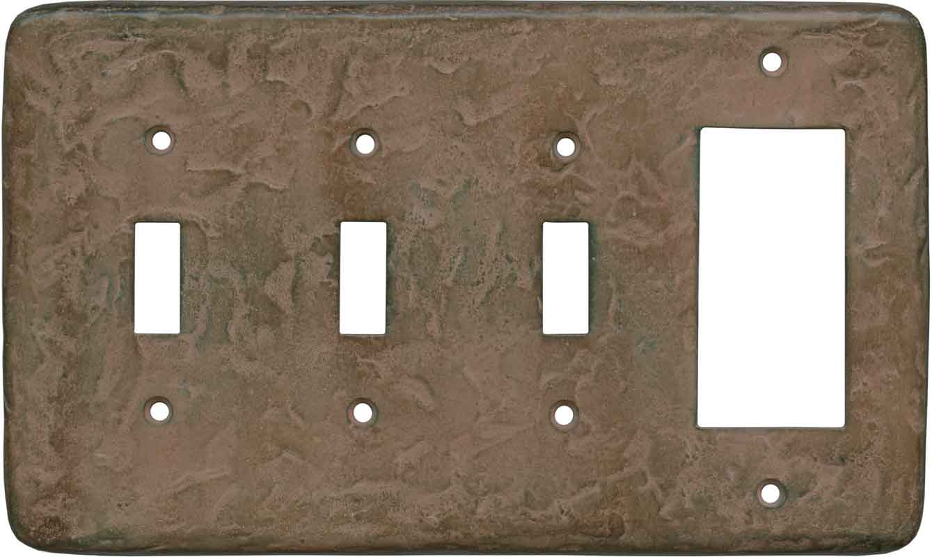 Texture Brown Clay - 3 Toggle/1 Rocker GFCI Switch Covers