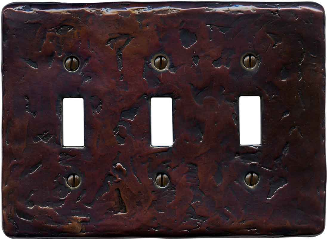 Textured Mink Triple 3 Toggle Light Switch Covers