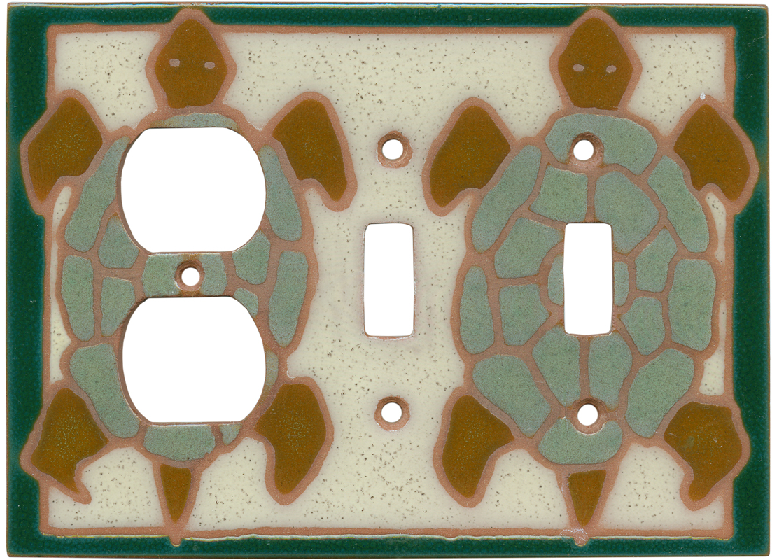Turtle Green1 - Gang Duplex Outlet Cover Wall Plate