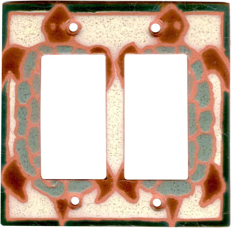 Turtle Shell 2 Gang Double GFCI Rocker Decorator Wallplates