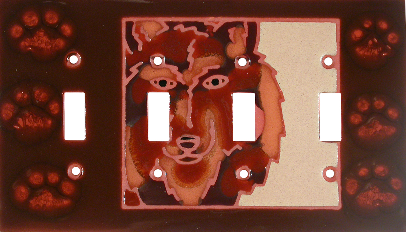 Wolf - Tracks - 4 Toggle Light Switch Covers