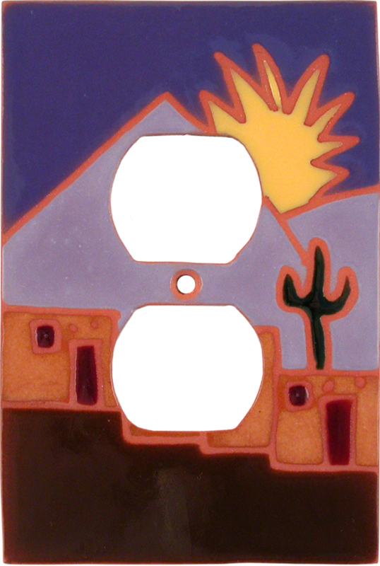 Yellow Sun Pueblo 1 Gang Duplex Outlet Cover Wall Plate