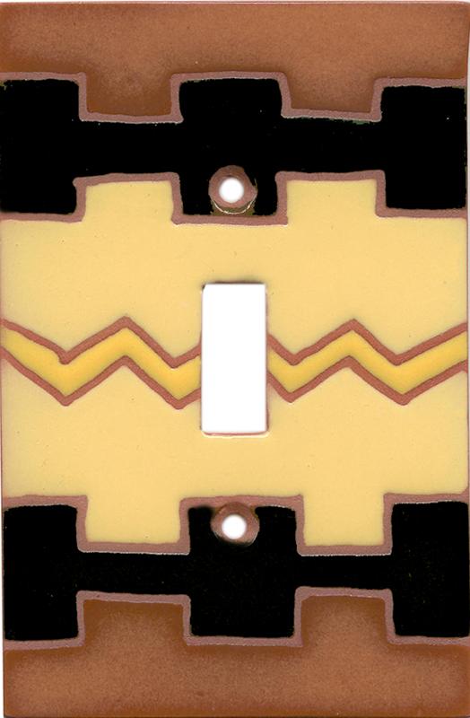 Yellow Zig Zag Single 1 Toggle Light Switch Plates