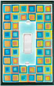 Art Glass Ceramic Light Switchplate