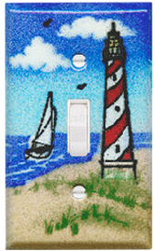 lighthouse beach light switch covers